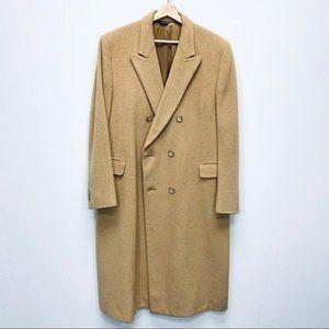 BILL BLASS 100% Pure Camelhair Overcoat Coat 46